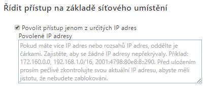 Přístup na základě síťového umístění