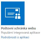 Aplikace - Poštovní schránka webu