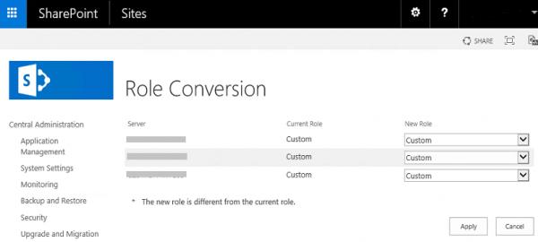 SharePoint Server 2016 Custom Role