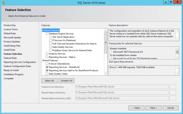 SSRS SQL2016 Features