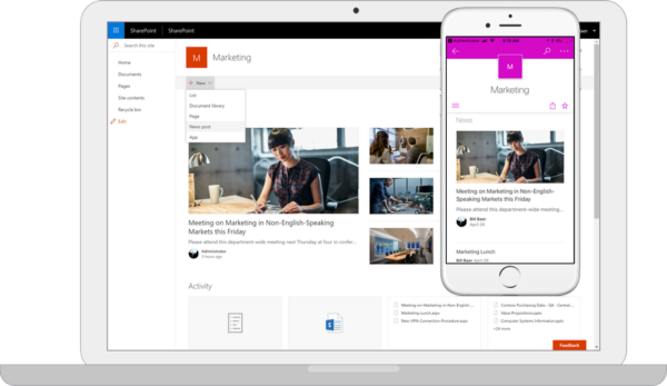 SharePoint Server 2019 - New experiences